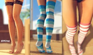 Schoolgirl colorful sexy socks
