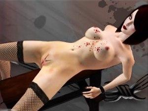 Fetish hot wax on girl